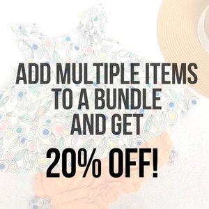 Seller Discount, 20% off Bundled Items!